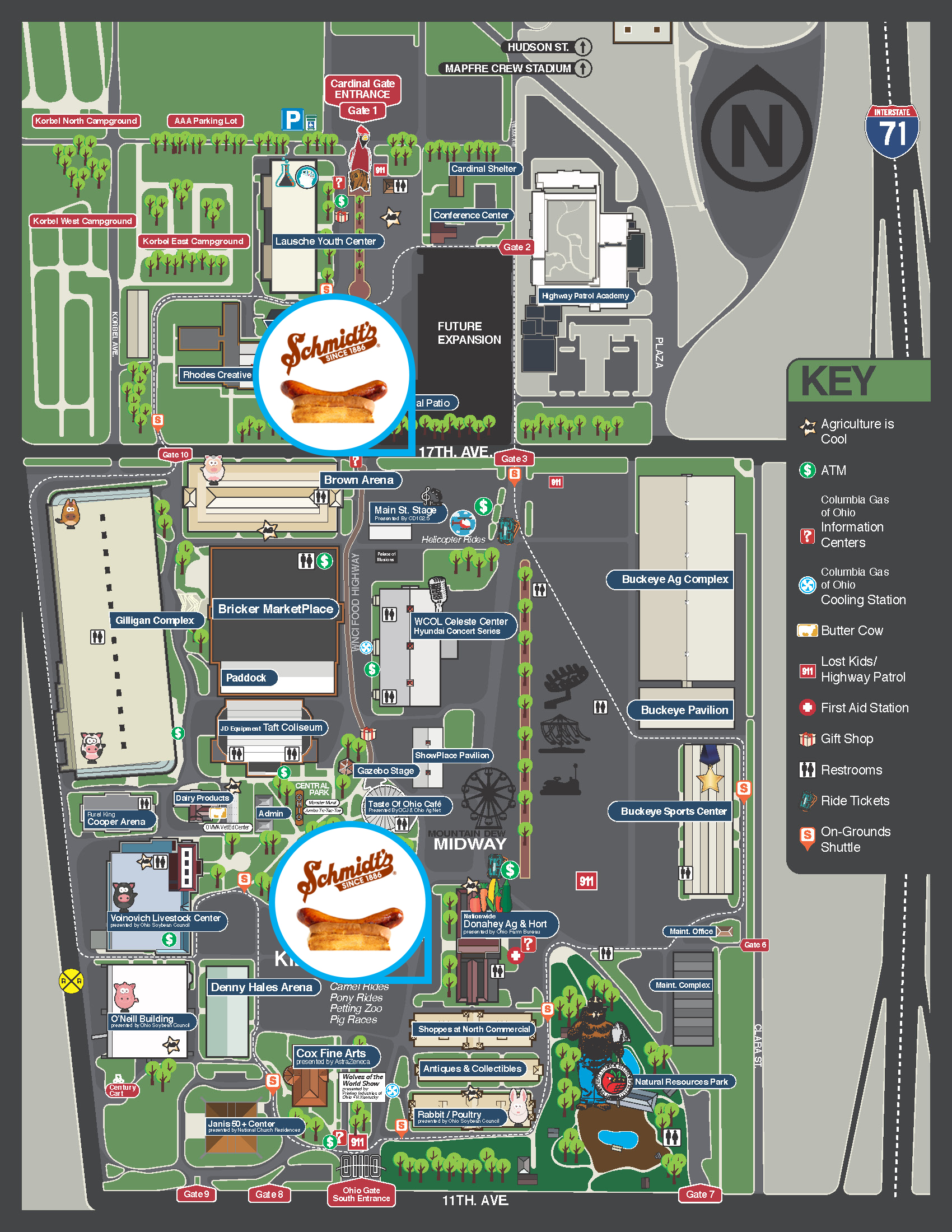 Ohio State Fair Map 2015 Ohio State Fair – Schmidt's Locations | Schmidt's Ohio State Fair Map